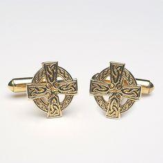 Celtic Cross Cufflinks (C-225) - Celtic-Cufflinks