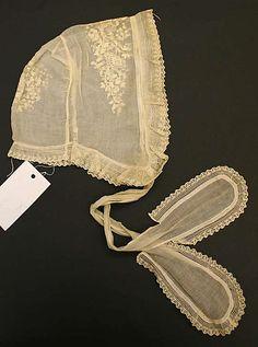 early 18th century cotton cap, American or European