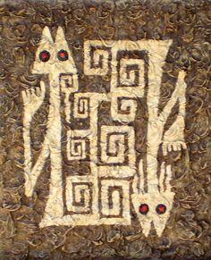 arte aborigen de los quilmes imagenes - Buscar con Google Ancient Aliens, Ancient Art, Kunst Der Aborigines, Colombian Art, Lascaux, Art Ancien, Paper Birds, Art Graphique, Aboriginal Art