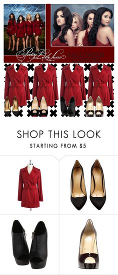 """""""DIY Halloween Costume: Pretty Little Liars"""" by ana-styles-mahone ❤ liked on Polyvore featuring Episode, Via Spiga, Charlotte Olympia, Christian Louboutin, PrettyLittleLiars and diycostume"""