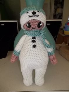 Ravelry: Noo Noo Doll in her Snowman Costume pattern by Laura Tegg