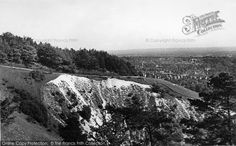 Reigate, Colley Hill c.1955, from Francis Frith