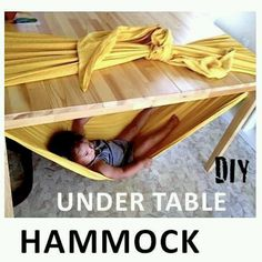 DIY hammock  Good for babysitting :)