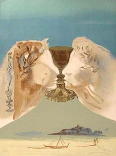 Salvador Dali Chalice of Love Art Print