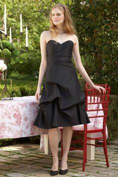 Sweetheart taffeta bridesmaid dress with empire waist