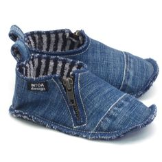 Denim Slippers for Kids by INTOAdesign on Etsy