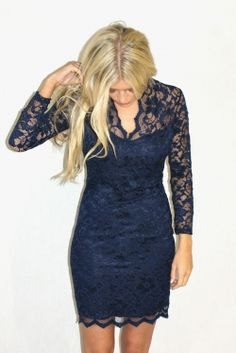 A deep V, fitted frock, in never-dating navy and lovely lace. Super stunning, and effortlessly elegant.    Price: £49.00