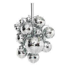 Disco Ball Chandelier by Konfetti Ljuskrona Disco Party, Disco Ball, Disco Disco, Ring Chandelier, Foyer Chandelier, Chandeliers, Mirror Ball, Mirror Mirror, All That Glitters