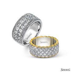 "Time to #PickARing! Which wedding band would would you say ""I do"" to?  #Diamonds #Wedding #WhiteGold #Pretty #SimonG #love Featured Styles: MR1731, MR1809 @arthursjewelers #weddingbands #stpaul #weddingband #weekend #minneapolis #minnesota"