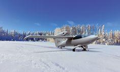 AKOYA: amphibious aircraft on snow surface