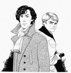 Commission: Holmes + Watson by lily-fox