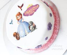 Tarta Princesa Sofia, Sophia the first cake Fondant e impresiones comestibles