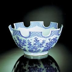 Mottahedeh Blue Canton | Blue and White Monteith Bowl by Mottahedeh. The most fashionable ...