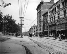 Barrington Street, Halifax, everyday: Old Photographs of Canada from Halifax Explosion, Old Time Photos, Canadian History, Cape Breton, Old City, Nova Scotia, Vintage Photographs, Rue, Great Photos