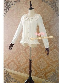 Strawberry Witch Chiffon Starry Sky Embroidery White Lolita Blouse