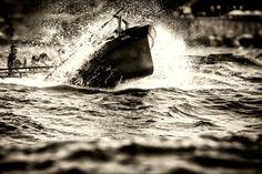 Trabajo fotográfico de Humberto Bilbao, sobre las regatas que se realizan en el mar Cantábrico.