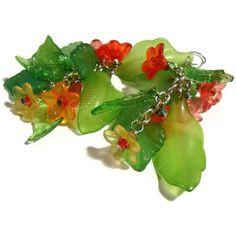 Springtime Flower Earrings Fairy Flower by ShesABelleDesigns, $22.00