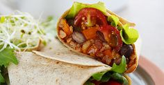 Burritos with Spanish Rice and Black Beans | @susanffvk for @Forks Over Knives | #vegan #recipe