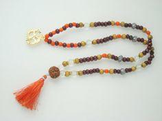 Amazon.com: Yoga Prayer Mala Coral Crystal Rosewood Sandalwood Energy Mala: Tarini Jewels: Jewelry