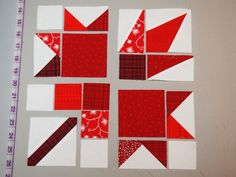 Could totally figure this one out. Quilt Block Patterns, Pattern Blocks, Quilt Blocks, Quilting Tutorials, Quilting Projects, Quilting Designs, Canadian Quilts, Quilts Canada, Scrapbook Bebe
