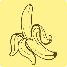 Labananadina #threefivefifty #09 #sticker #3550 #design #ilustration #yellow #brown #street #art #barcelona #popstar #ra #banana Street Art, Barcelona, Sticker, Banana, Sky, Black And White, Yellow, Logos, Brown