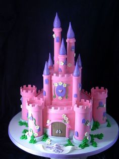 Custom & Specialty Birthday Cakes in Houston TX by How Sweet It Is Bakery Princess Birthday Cupcakes, Disney Princess Birthday, Birthday Cake Girls, Birthday Balloons, Princess Party, Fairy Castle Cake, Projects For Kids, Crafts For Kids, Art For Kids