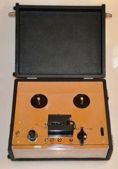 PLAYBOY portable reel to reel audio tape recorder including adaptor vintage