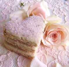 """""""Peak of Summer Peach Tea Cookies"""" - how completely lovely sounding! rose petal tea cookies Like S'mores! But cookies! Shabby Chic Cookies, Bolacha Cookies, Tea Cookies, Sugar Cookies, Pink Cookies, Shortbread Cookies, Rose Cookies, My Tea, Rose Petals"""