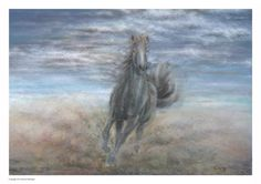 Horse painting horse running galloping horse by Paintzstudio