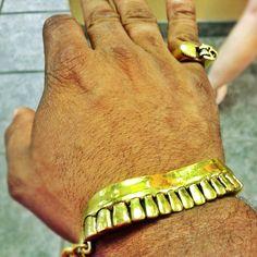 Gold Teeth Bracelet & Lighter Ring