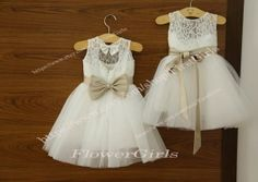 Flower Girl Dress,White Lace Flower Girl Dress,Tutu Flower Girl Dress,Infant Flower Girl Dress For Baby,Infant/Toddler,Girls FL424 @Amanda Snelson Brase this would be cute too!