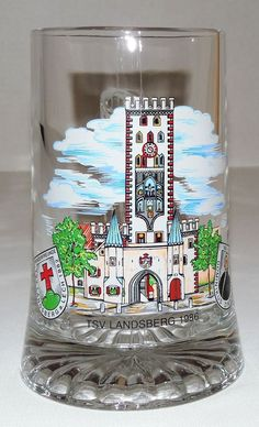 TSV Landsberg 1986 Souvenir German/Bavaria Football Club Heavy Glass Beer Mug