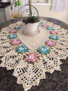 ethnic home decor Puff Stitch Crochet, Crochet Geek, Crochet Home, Filet Crochet, Diy Crochet, Vintage Crochet, Crochet Tablecloth, Crochet Doilies, Crochet Flowers