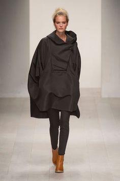 Teija Eilola Spring 2013 draped black coat #minimalist #fashion #style