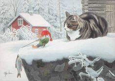 Working hard for a little supper.  artist Staffan Ullström