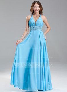Prom Dresses - $136.99 - A-Line/Princess V-neck Floor-Length Chiffon Prom Dress With Ruffle Beading Sequins (018004867) http://jjshouse.com/A-Line-Princess-V-Neck-Floor-Length-Chiffon-Prom-Dress-With-Ruffle-Beading-Sequins-018004867-g4867