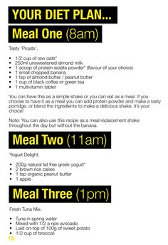 A diet plan to lose fat and build muscle