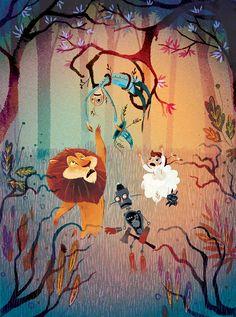 O Conto de L. Frank Baum nas ilustrações incríveis da freelancer Lorena Alvarez Gomes, de Bogotá. O trabalho de Lorena é um reflexo de seu interesse pela linguagem infantil, e sua vontade de experimentar, com diferentes técnicas de desenho, ilustrações para livros infantis. (...)