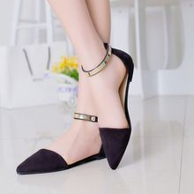 Zapatos de mujer primavera verano 2015 pisos punta estrecha moda suave breve zapato KJ064(China (Mainland))