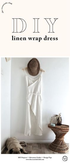 Most up-to-date Free sewing dresses for beginners Concepts DIY summer essential linen wrap dress - sewing tutorial Dress Sewing Tutorials, Sewing Hacks, Sewing Tips, Blouse Patterns, Free Dress Sewing Pattern, Pattern Drafting, Sewing Ideas, Wrap Dress Diy, Wrap Dresses