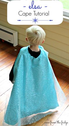 Easy Queen Elsa Cape Tutorial | View From The Fridge