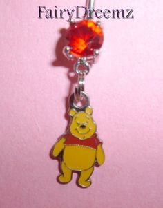 Cutie Pie Winnie the POOH Bear Disney Belly Navel Ring Body Jewelry on Etsy, $7.00