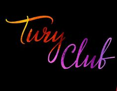 """Check out new work on my @Behance portfolio: """"TURY.CLUB Lettering"""" http://be.net/gallery/54169963/TURYCLUB-Lettering"""