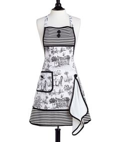 Take a look at this Café Toile Gigi Apron & Towel - Women by Jessie Steele on #zulily today!