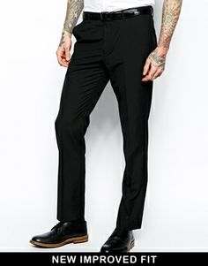 ASOS Slim Fit Suit In Black---SO AWESOME! | suits | Pinterest