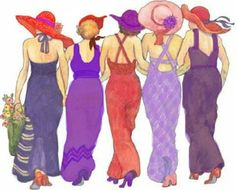 When I am an old woman, I shall wear purple with a red hat that doesn't go, & doesn't suit me...Because I Can!!