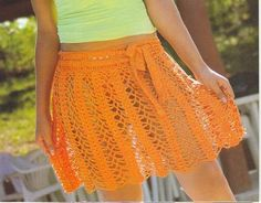 Another orange skirt with diagram