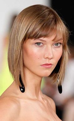Karlie Kloss's blunt bob and bangs