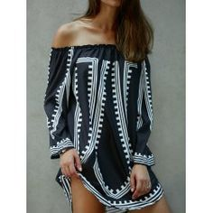 SHARE & Get it FREE | Off-The-Shoulder Printed Loose Fitting DressFor Fashion Lovers only:80,000+ Items • FREE SHIPPING Join Twinkledeals: Get YOUR $50 NOW!