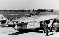 """July 18th, 1942 First jet powered flight of the Messerschmitt Me 262. The Messerschmitt Me 262 Schwalbe (English: """"Swallow"""") of Nazi Germany was the world's first operational jet-powered fighter aircraft. Design work started before World War II began, but engine problems and top-level interference kept the aircraft from operational status with the Luftwaffe until mid-1944."""